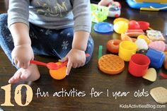 TONS of super cute things to do with baby:  Fun Activities for One Year Olds {10 Favorite}