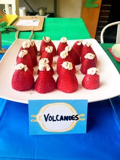 Volcano strawberries from a DIY Dinosaur Birthday Bash on Kara's Party Ideas | KarasPartyIdeas.com (8)