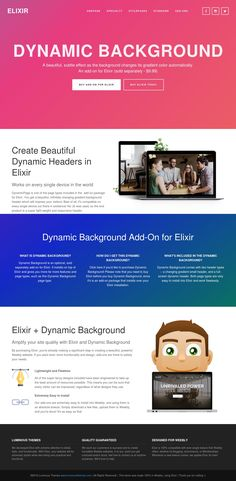 Elixir – dynamic background