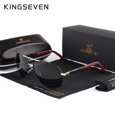 Cheap shades for men, Buy Quality brand polarized sunglasses directly from China polarized sunglasses Suppliers: KINGSEVEN Men Vintage Aluminum HD Polarized Sunglasses Classic Brand Sun glasses Coating Lens Driving Shades For Men/Wome Men's Accessories, Sunglasses Price, Polarized Sunglasses, Vintage Sunglasses, Mirrored Sunglasses, Shopping Pas Cher, Shades For Men, Sunglasses For Your Face Shape, Mens Glasses