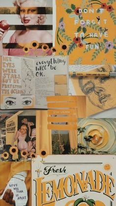 on - Wallpaper Tumblr Wallpaper, Cool Wallpaper, Wallpaper Backgrounds, Wallpaper Iphone Vintage, Collage Background, Wall Collage, Aesthetic Pastel Wallpaper, Aesthetic Wallpapers, Photocollage