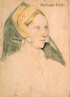 Ганс Гольбейн младший (1497-1543) Portrait of Margaret a Barow, Lady Eliot. c.1532-34