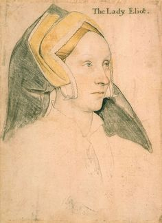 """Margaret, Lady Elyot"" drawing by Swiss-German painter Hans Holbein"
