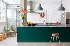 Eclectische loft in São Paulo met prachtige onbewerkte muren - Roomed | roomed.nl