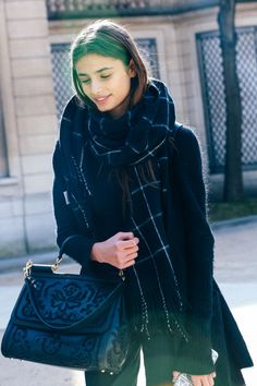 Street looks à la Fashion Week automne-hiver 2015-2016 de Paris #fashion #streetstyle #outfit