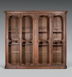 meuble biblioth que en bois recycl biblioth que vitr e. Black Bedroom Furniture Sets. Home Design Ideas