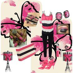 """Pink/Black"" by angelajeangaulke on Polyvore"