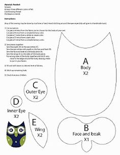 owl template for those that need more owl crafts...