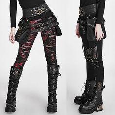 Black PU Leather Steampunk Steam Punk Fashion Waist Bag SKU-11408095