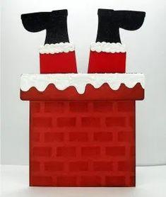 Risultati immagini per santa chimney template to print Christmas Paper Crafts, Homemade Christmas Cards, Kids Christmas, Homemade Cards, Christmas Plays, Christmas Decorations, Santa Chimney, Shaped Cards, Bird Cards