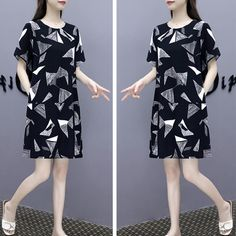 Printed Loose Short Sleeve Women Mini Dress & Latest Fashion Trends Online Shopping in UAE Dubai with Best price for Women Dresses, Sandals, Handbags, Jewelry and Watches Buy Now from BusinessArcade On Cash on Delivery. Midi Dress With Sleeves, Chiffon Maxi Dress, Mini Dresses For Women, Loose Shorts, Striped Jumpsuit, Latest Fashion Trends, Chiffon Dress Long