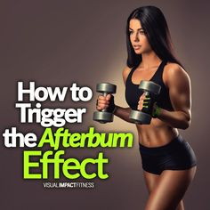 How To Trigger The Afterburn Effect - The scientific term for the afterburn effect is called EPOC. The basic idea is that if you train intensely you will burn more calories after a workout that during the workout. Here's how to make sure you hit the right workout intensity to do this.    #hiit #epoc #afterburneffect #intervaltraining #intervals #hiitworkout #fullbodyworkout #hiitcardio #circuittraining #cardioworkout #quickcardio #fitness #healthyliving  #fitsporation #fatloss