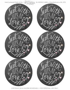 Printable valentines day labels part of a collection by @Valerie (Henderson) McKeehan -:)