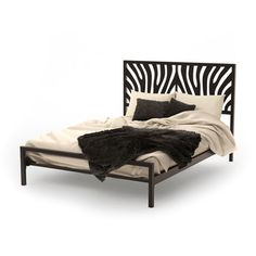 Amisco Zebra Queen Size Metal Bed - Overstock™ Shopping - Great Deals on Beds