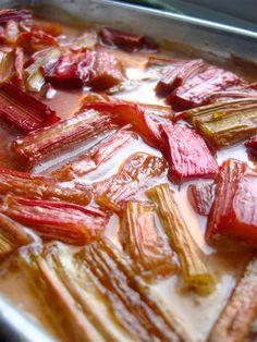 Balsamic-Roasted Rhubarb