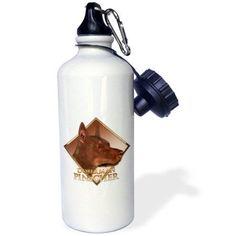 3dRose Doberman Pinscher, Sports Water Bottle, 21oz