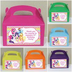 Favor de Pony poco personalizados 12 cajas por CutePartySupplies