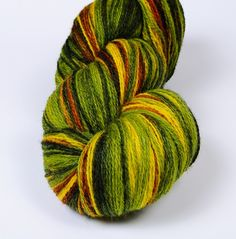 #Kauni Wool Yarn Color EV HighQuality Green Yellow Brown by Kauni, $19.75 #etsy #knitting