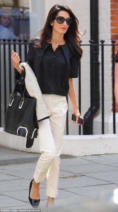 Fashion, Feminine, style for long legs, Amal Clooney