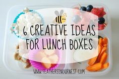 6 Creative Ideas for Lunch Boxes using Horizon Organic. From Feathers in Our Nest