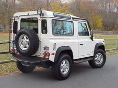 Land Rover Defender 90 Td5 NAS Edition. White.