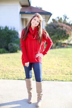 Over the Moon Sweater - Crimson