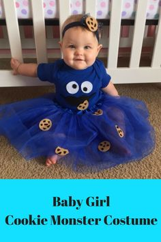 Adorable Baby Cookie Monster Costume. Perfect for Halloween or a birthday party.
