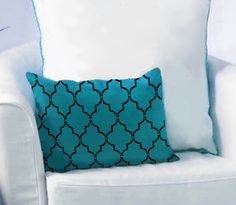 Stenciled Pillow! Great DIY project for only $17.95. https://www.cuttingedgestencils.com/marrakech-stencil.html
