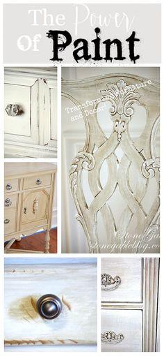 THE POWER OF PAINT-Transforming furniture and decor! stonegableblog.com