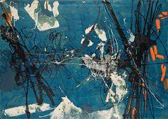 """ Tadeusz Kantor (Polish, 1915-1990), Untitled, 1957. Canvas, 133.5 x 188.5 cm. """