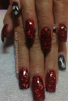 Nails Mylar Nails, Bella Nails, Pretty Hands, Hair And Nails, Nail Colors, Nailart, Nail Designs, Make Up, Glitter