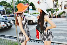 Stripes and floppy hats