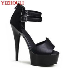 Womens Platform Sandals Star Love 15cm High Heels Dance Shoes Korean Version Lap High Heel Shoes