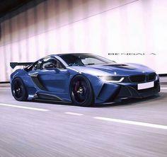 BMW i8 blue