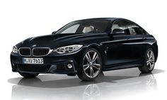 #BMW #Serie4GranCoupé.  La ligne de pavillon élancée et légèrement fuyante, les vitres latérales basses et les lignes expressives convergent vers une poupe athlétique.