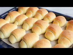 Rogaliki drożdżowe 🥐🥐 - YouTube Cake Decorating Tutorials, Hot Dog Buns, Nutella, Blueberry, Rolls, Favorite Recipes, Bread, Make It Yourself, Food