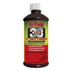 Hi-Yield 38 Plus Permethrin Turf Termite and Ornamental Insect Control, 16 Oz. Bottle by Hi-Yield. $25.87. Insects Controlled: Borers, Bark Beetles, Aphids, Bagworms, Mosquitoes, Ants, Beetles, Cockroaches, Earwigs, Mole Crickets, Spiders and many others listed on the label.. Controls home invading insects, lawn insects, insects on ornamentals plus trench and fence post termite recommendations.. The Hi-Yield38 Plus 31331 Turf Termite and Ornamental Insect Contro...