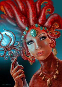 Red Octopus by Najmeh Tahaei Najmeh-Tahaei