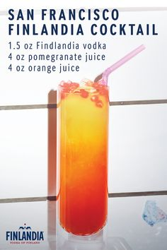 This summer, enjoy the sweet taste of a San Francisco Cocktail. Made with Finlandia Vodka, this delicious drink is full of flavor and perfect for enjoying out by the pool. Top it with pomegranate seeds for additional color and decoration.