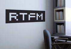 RTFM Wall Sticker - Nerd Home Decoration