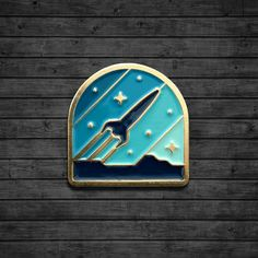 Rocketeer Enamel Pin by dkngstudios on Etsy Badges, Hard Enamel Pin, Pin Enamel, Clay Art Projects, Vintage Space, Pin Art, Cool Pins, Pin And Patches, Lapel Pins