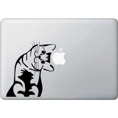 MB I Can Haz Cat Vinyl Decal for Macbooks, Laptops and More ($4.60) ❤ liked on Polyvore featuring accessories, tech accessories, electronics and laptop