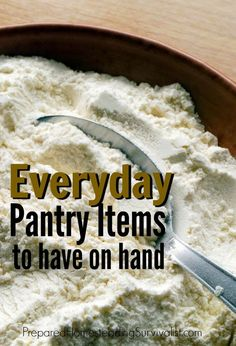 The truly prepared know that there are several everyday pantry items that should always be on hand. You'll make meals in minutes Survival Food List, Survival Prepping, Emergency Preparedness, Cooking Tips, Cooking Recipes, Long Term Food Storage, Dehydrated Food, Preserving Food, Diy Food