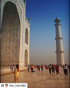 #Repost @foto_hika1963 with @get_repost  Taj Mahal. Kjærlighetserklæring uten like. #reisetips #reiseliv #reiseblogger #reiseråd #TajMahal