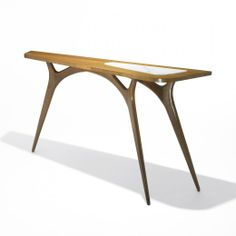 Vladimir Kagan, Walnut and Marble Console for Grosfeld House, c1952.