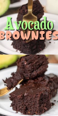You won't believe how rich, fudgy and decadent these chocolate avocado brownies are! You won't believe how rich, fudgy and decadent these chocolate avocado brownies are! Healthy Deserts, Healthy Sweets, Healthy Dessert Recipes, Healthy Baking, Vegan Desserts, Bar Recipes, Eat Healthy, Drink Recipes, Healthy Life
