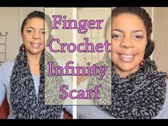 How To Finger Crochet - 1 Hour Infinity Circle Scarf So easy and fast.