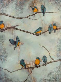 Bird Mixed Media Giclee Art Print, titled Taking Flight, Bird Wall Art, Modern Bird Art, Mixed Media Birds - - Bird Wall Art, Bird Artwork, Floral Wall Art, Matte Painting, Painting & Drawing, Oil Painting Flowers, Art Moderne, Schmuck Design, Watercolor Paintings