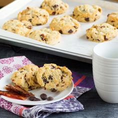 Bacon Chocolate Chip Biscuits