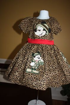 Red and Leopard Safari Mouse and Friends by castleseamstress, $84.00